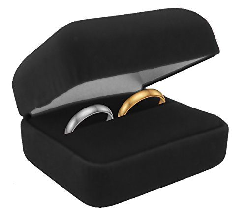 (Velvet Double Ring Box (Great for His/Her Sets))