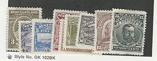 Newfoundland, Postage Stamp, 89-97 Mint Hinged, 1910, JFZ ()
