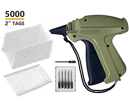 GILLRAJ Milan Clothes Tagging Gun with 5000 2'' Standard Tags Attachments and 6 Needles Clothing Retail Price Tag Gun Kit for Boutique Store Warehouse Consignment Garage Yard Sale by Gillraj Milan