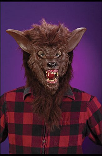 Brown Hairy Werewolf Wolf Brown Mask Costume Halloween Horror Scary Accessory (Sexy Werewolf Costume)