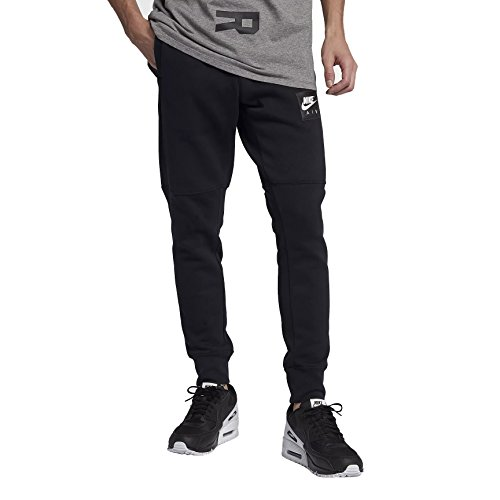 NIKE Mens Air Pack Fleece Jogger Pants Black/White 886048-011 Size Small