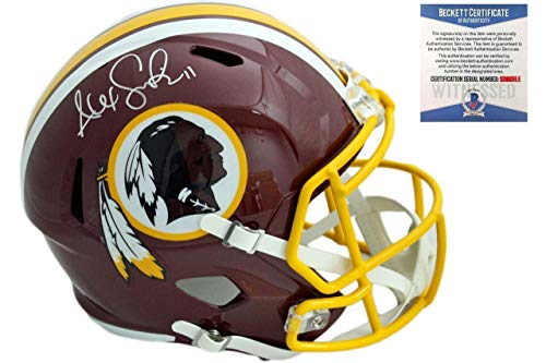 Autographed Alex Smith Helmet - Speed Beckett - Beckett Authentication - Autographed NFL Helmets ()
