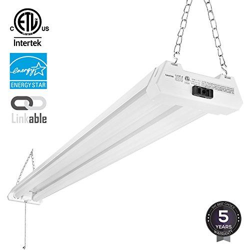Linkable Led Shop Light: 4ft 40W Linkable LED Utility Shop Light, 4100 Lumens