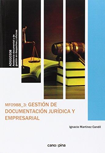 Descargar Libro Mf0988 Gestión De Documentación Jurídica Y Empresarial Ignacio Martínez Candil