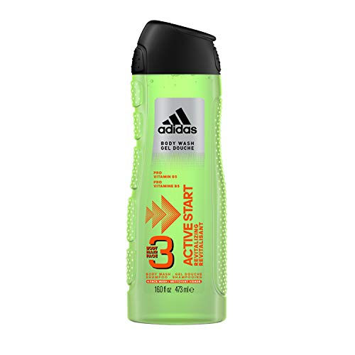 Adidas Fragrance Male Personal Care 3-in-1 Body Wash, Active Start, 16 Fluid Ounce (Face Wash Active Men)