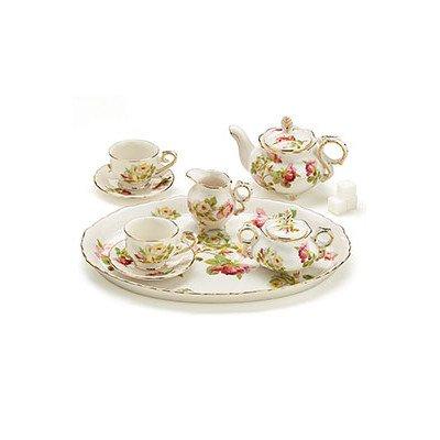 8 Piece Porcelain Mini Royal Rose Tea Set