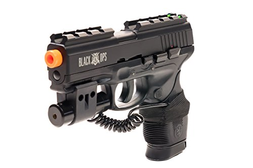 Airsoft Gun Black Ops Wolverine CO2 Semi-Automatic BB Pistol Shoot Biodegradable .20 .25 BBs (Ruger Semi Automatic)
