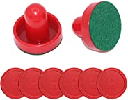 nonbrand Air Hockey Pushers and air Hockey Replacement Pucks for Different Size of air Hockey Table (2 Striker