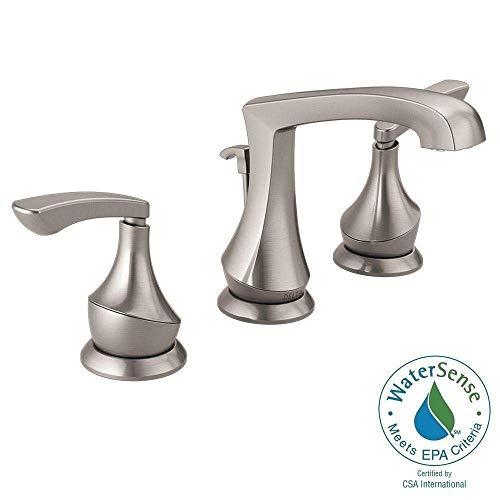 Delta Merge 8 inch Widespread 2-Handle Bathroom Faucet in SpotShield Brushed Nickel ()