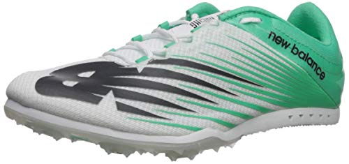 New Balance Women's 500v6 Track Shoe White/neon Emerald 8.5 B US (Best Track Spikes For Hurdles)