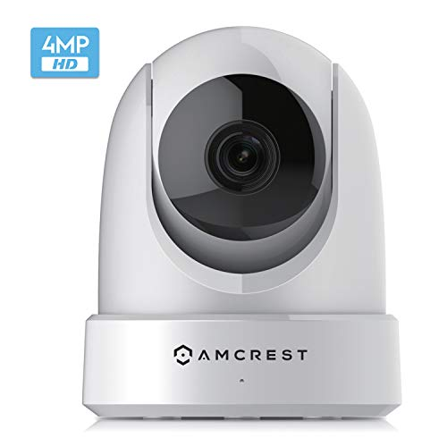 Amcrest 4MP UltraHD Indoor WiFi Camera, Security IP Camera with Pan/Tilt, Two-Way Audio, Night Vision, Remote Viewing, Dual-Band 5ghz/2.4ghz, 4-Megapixel @~20FPS, Wide 120° FOV. IP4M-1051W (White)