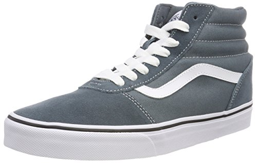 U0y Zapatillas Canvas Suede Ward Altas Weather Suede Vans Azul Stormy Canvas White Hombre Hi IOfwwqxag