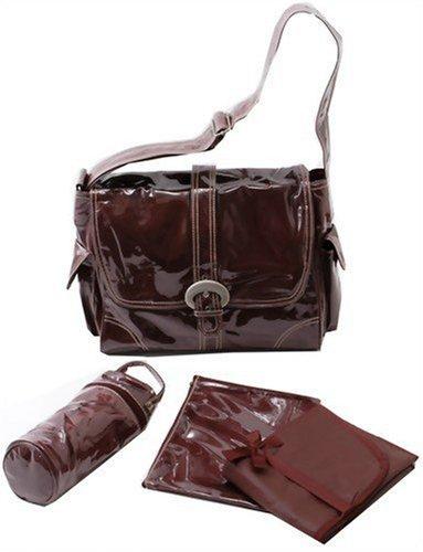 Kalencom Laminated Buckle Bag, Chocolate Corduroy