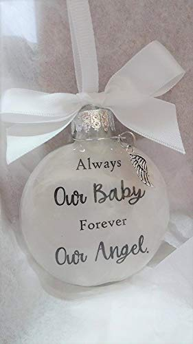 (Our Baby Memorial Ornament with Angel Wing Charm In Memory of Infant Loss)