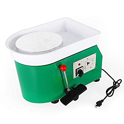 Electric Pottery Wheel Machine with Foot Pedal  review