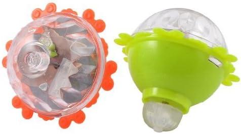 Dcolor 2 x Toupie en plastique dur avec LED flash en lumiere coloree