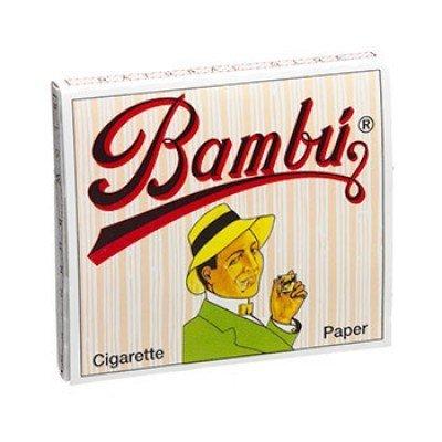 Bambu Regular 1-1/4' Rolling Paper, Pack of 5 Booklets