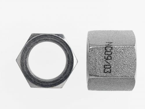 Brennan Nut - 3/8 Inch Flat Face O-Ring, Steel (68 Units)