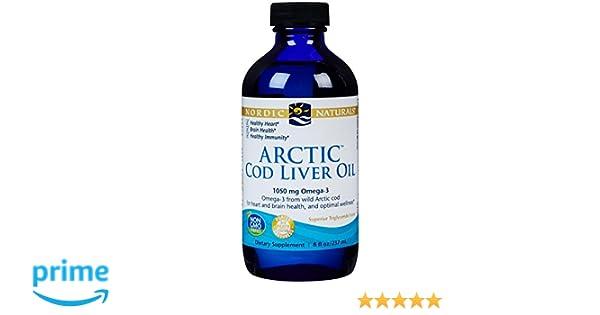Aceite de hígado de bacalao ártico, 8 fl oz (237 ml) - Naturals nórdicos: Amazon.es: Salud y cuidado personal