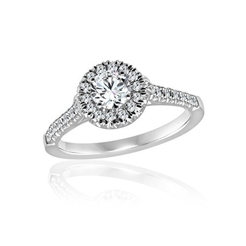 Diamond2Deal Diamond Engagement Ring 14K In White Gold 1/2 Ct Size-8.5