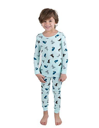 Leveret Kids Pajamas Bunny Rabbit Overall Print Boys