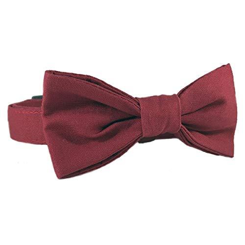 Burgundy Cat or Dog Wedding Attire Collar Size Small 3/4