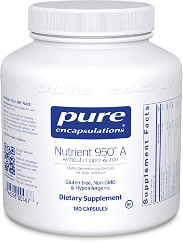 Pure Encapsulations - Nutrient 950 A Without Copper & Iron - Hypoallergenic Multi-vitamin/Mineral Formula for Optimal Health* - 180 Capsules