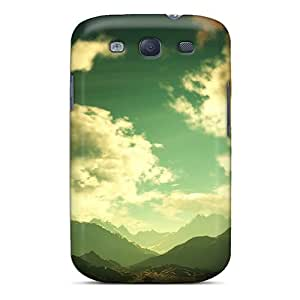 BlingBlingCase Snap On Hard Case Cover Mountain Weather Protector For Galaxy S3