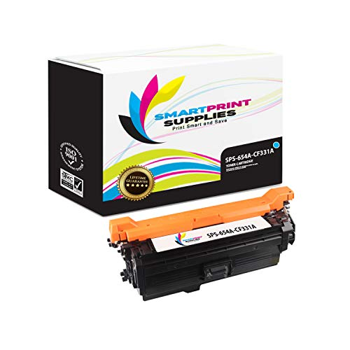 Smart Print Supplies Compatible 654A CF331A Cyan Toner Cartridge Replacement for HP Laserjet M651 Printers (15,000 Pages) ()