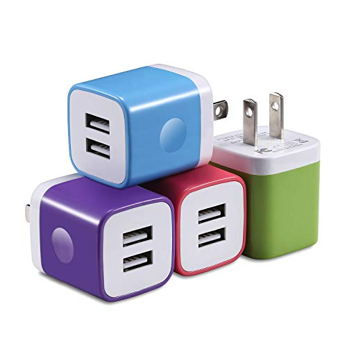 X-EDITION USB Wall Charger, 4-Pack 2.1Amp Dual Port USB Plug Power Adapter Charging Block Compatible with Phone Xs Max Xs XR (2018) X 8 7 6S 6 Plus 5S, Pad, Samsung, LG, Motorola, Android and More