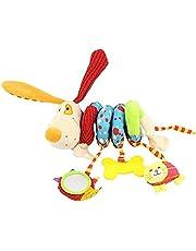 Babyzitje speelgoed, baby activity spiraal ketting kinderwagen speelgoed meisjes jongens spiraal kinderwagenketting met bel om op te hangen aan kinderwagen, babyschaal, kinderbed