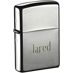 Engraved Zippo Black Ice Dark Gun Metal Lighter, Free Engraving