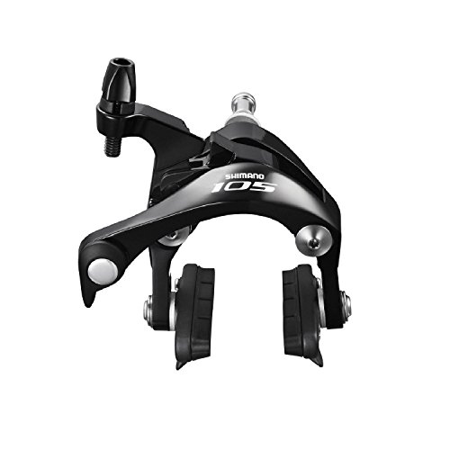 Shimano 105 BR-5800-F Super SLR Brake Caliper Front only Road Bike (Front, Black, Retail Package)