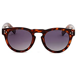 """PRIVÉ REVAUX ICON Collection """"The Warhol"""" [Limited Edition] Handcrafted Designer Round Polarized Sunglasses (Brown Tortoise/Grey)"""