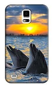 Dolphin Hard Back Shell Case / Cover for Samsung Galaxy S5 wangjiang maoyi
