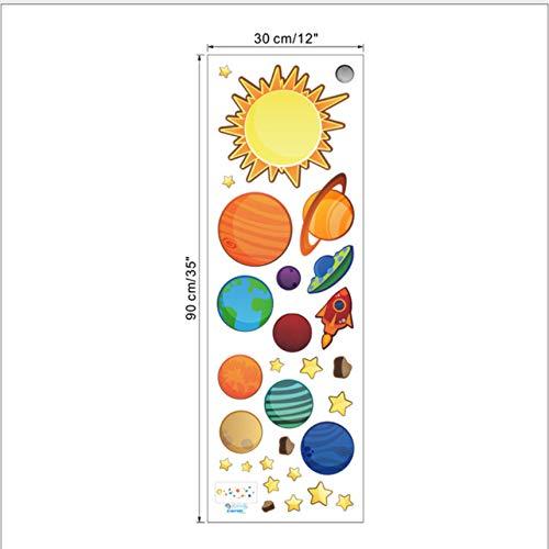 WHXJ Sistema Solar Pegatinas De Pared para Habitaciones De Niños ...