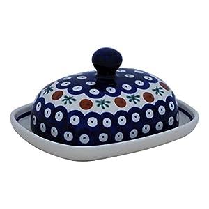 Bunzlauer petit 1/2 beurrier ovale motif 41 de beurre