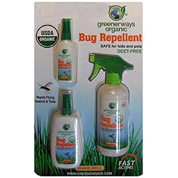 Amazon.com: Greenerways Organic Natural Bug Spray, Insect ...