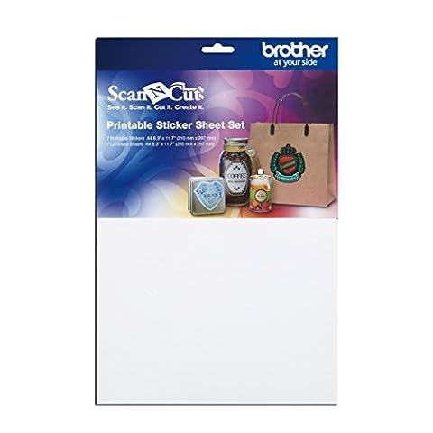 Brother ScanNCut CAPSS1 Printable Sticker Sheet Set (Scan N Cut Sticker)