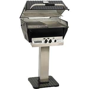Broilmaster p3-sxn Super Premium gas natural parrilla de patio de acero inoxidable Post