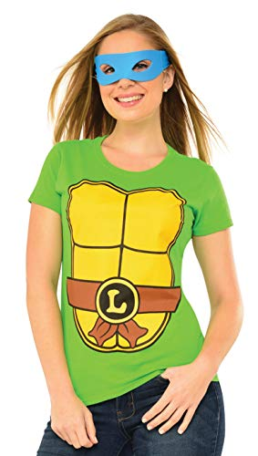 Rubie's Teenage Mutant Ninja Turtles Top With Mask and Leonardo, Green, Large -