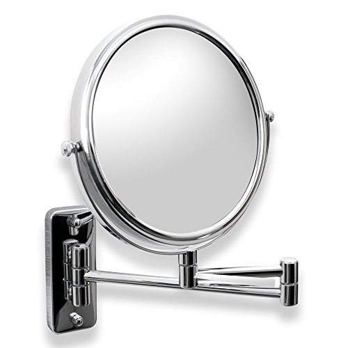 Mirror Vessels (Decor Star CM001-TC Double-Sided Wall Mount Cosmetic Makeup Mirror, Magnifiction, Brass, Chrome)