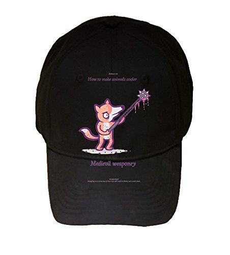 How to Make Animals Cooler Fox Medievil Funny Randy Otter - 100% Adjustable Cap Hat Black