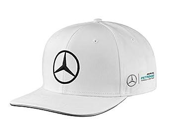 Mercedes-Benz Flat Brim Cap color blanco, Bottas: Amazon.es: Coche y moto