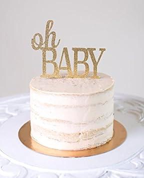 Oh Baby Kuchen Topper Baby Shower Glitter Kuchen Topper Gender
