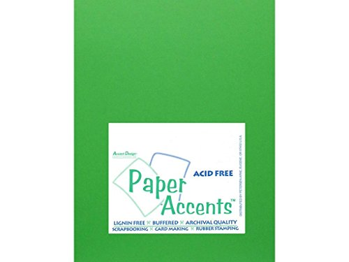 (Accent Design Paper Accents Cdstk Smooth 8.5x11 65# Kelly Green, 25 Piece)