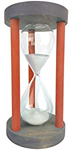 Cray Cray Supply Sleek Circle Gray Hourglass with Red Spindles