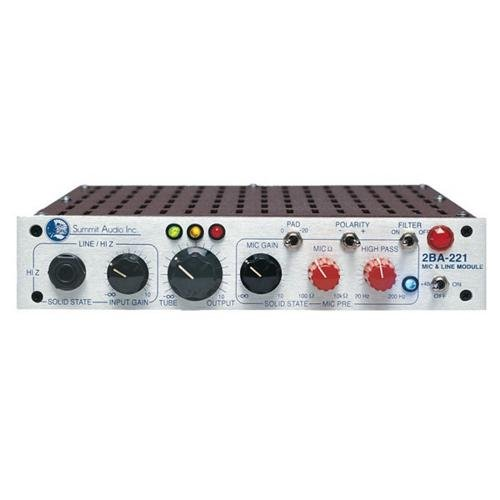 Summit Audio 2BA221 Line and Microphone Preamp