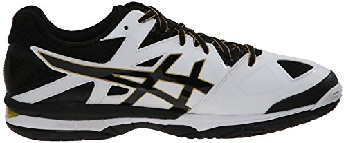 outlet for cheap cheap with paypal ASICS Men's GEL-Tactic Volleyball Shoe White/Black/Pale Gold 100% original cheap price clearance pay with visa cheap visit BWdAMSyXR5