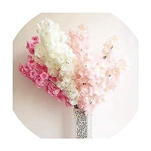 6P Cherry Flower Branch Begonia Sakura Tree Stem for Event Wedding Artificial Decorative 52